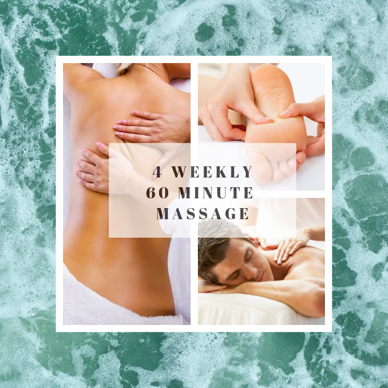 4 weekly 60 minute massage
