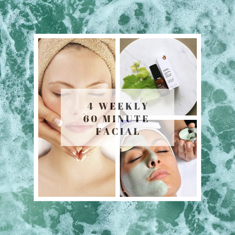4 weekly 60 minute facial