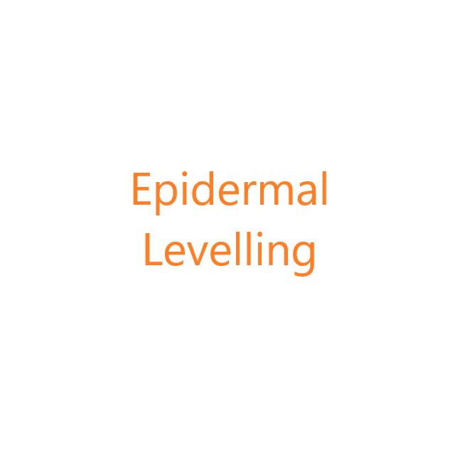 Epidermal levelling