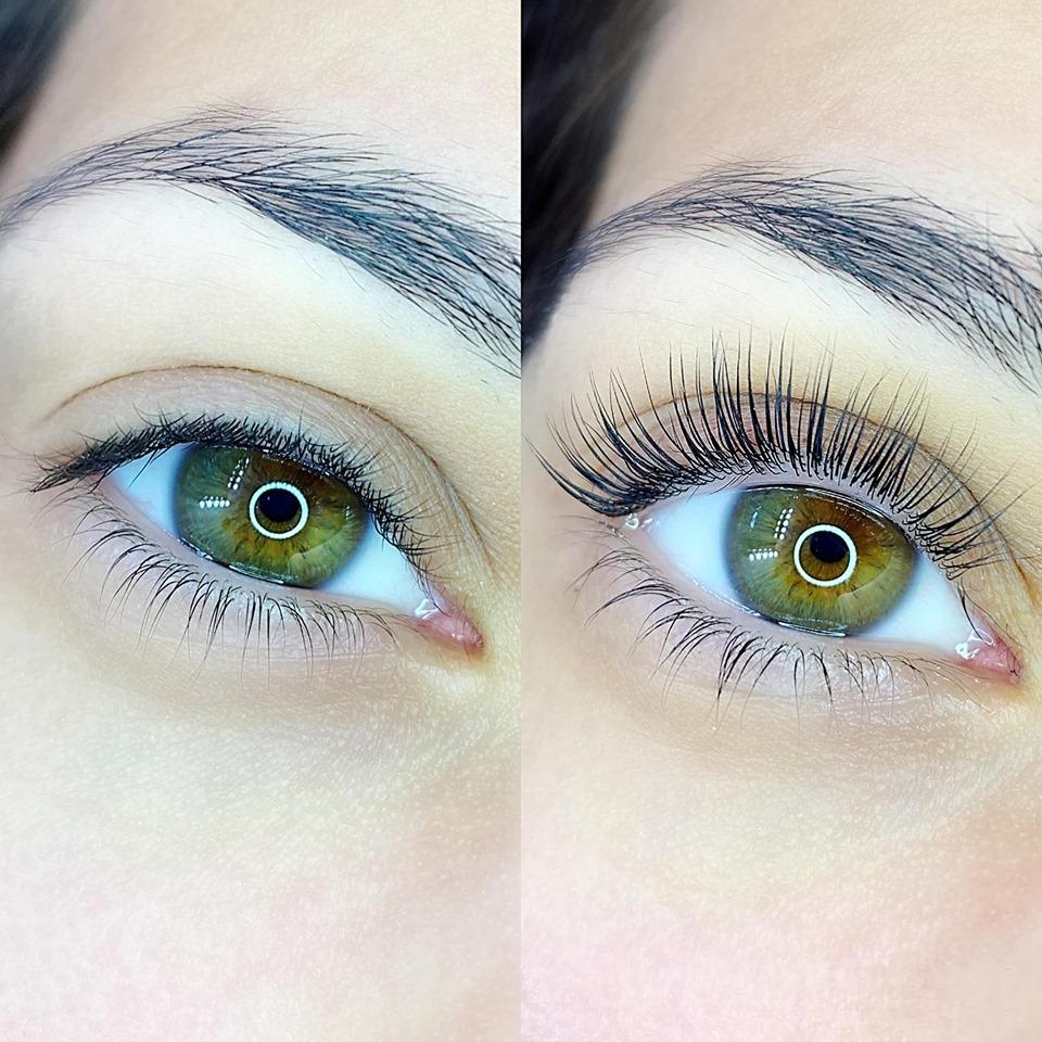 Eyelashliftingbefore after