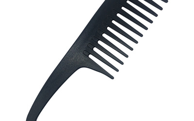 Large wide tooth comb with hook